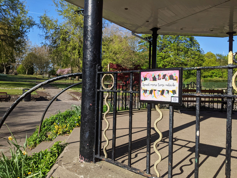 Spend more time outside in the bandstand, 2021