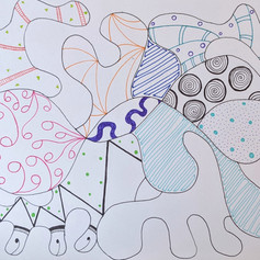 Example of a Zentangle, 2020