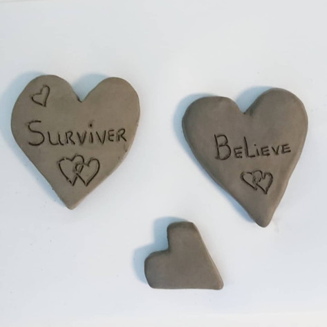 Heart-shaped air drying clay designs, 2019