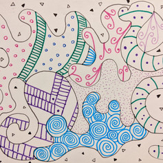Example of a zentangle - Session 2b, 2021