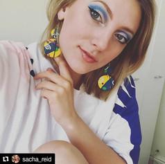 Earrings worn by Sacha, 2019