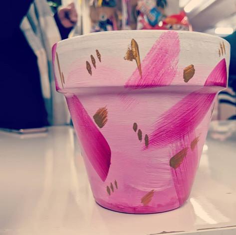 Pink plant pot, 2018