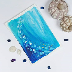 Underwater abstract on canvas paper, 2019