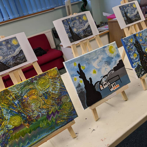 Finished versions of Starry Night by Van Gogh, 2019