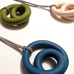 Swirly oversized necklaces, 2019