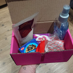 A box of smells for the sensory session, 2018