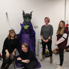 My team with our finished puppet, 2018