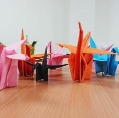 Origami cranes, 2019