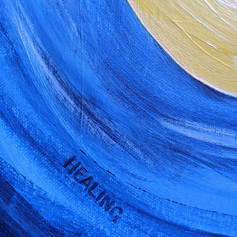 Blue detail in the artwork, 2020
