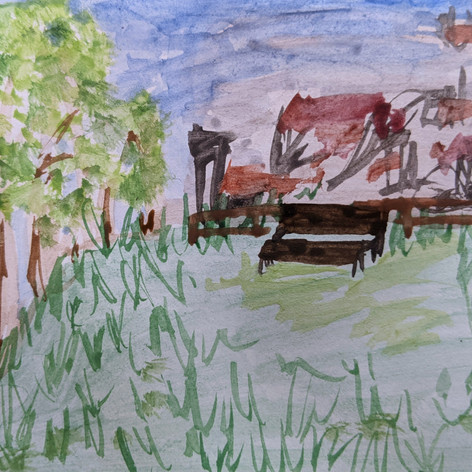 """Example of """"Wish you were here"""" painting - Session 3b, 2021"""