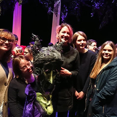 Our group with our puppet and actor, 2018