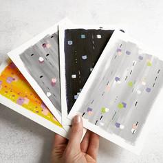 Colour experiments on canvas paper, 2019