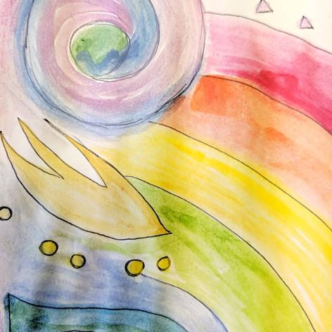 Watercolour warm up activity, 2019