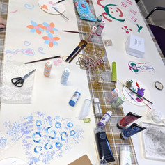 Printmaking using found objects, 2020