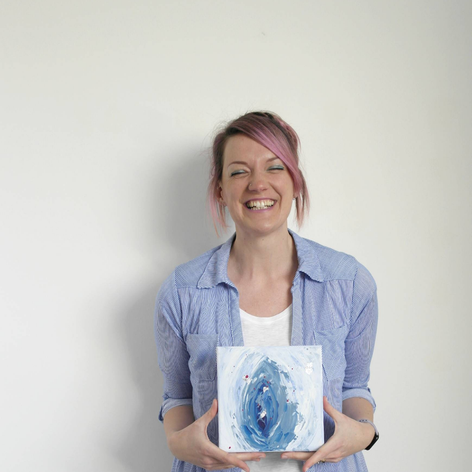 Blue vulva abstract, 2019