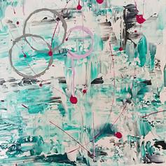 Close up of green circle abstract, 2019