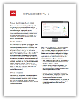 Infor FACTS Distribution software brochure