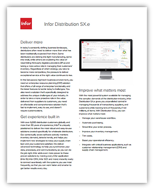 Infor Distribution SX.e brochure