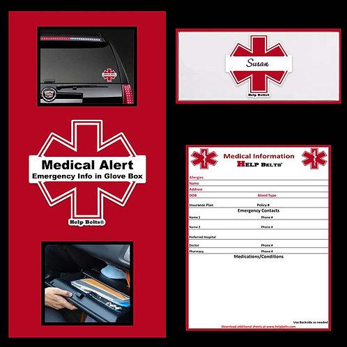Emergency Medical Information Glove Box Kit