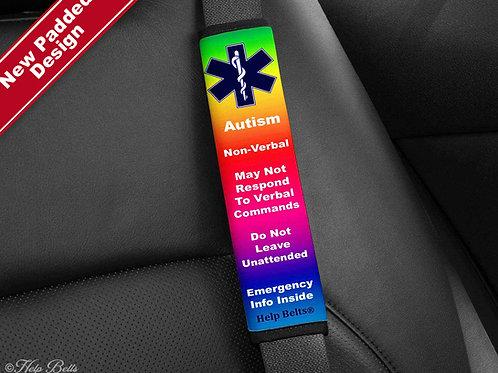 Autism Non-Verbal Padded Help Belts®