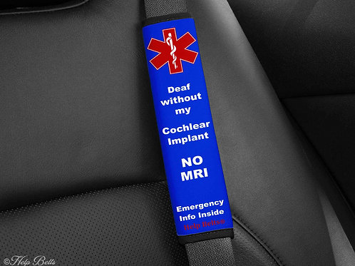 Deaf without Cochlear Implant Padded Help Belts®