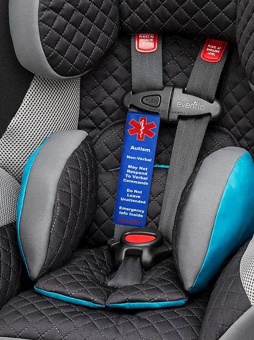 Autism Non-Verbal Child Car Seat Help Belts®