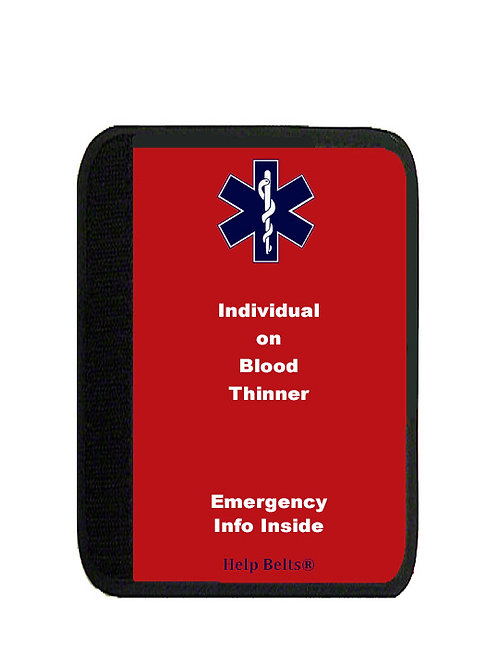 Blood Thinner Padded Help Belts®