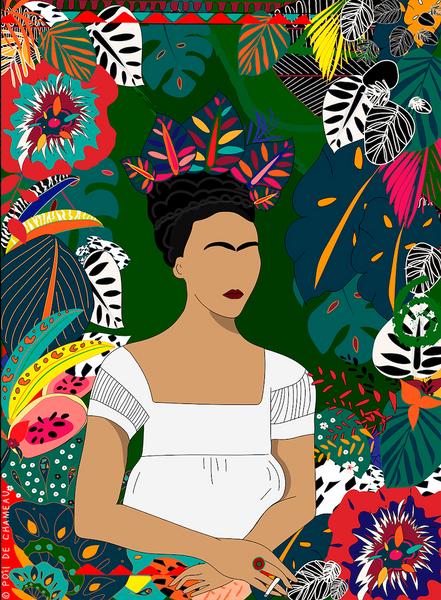 Frida dans les feuillages