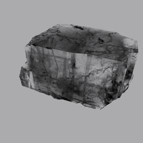 Cristal de sel extrait d'une mine