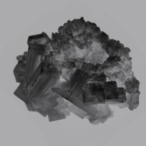 Formation de cristal d'halite