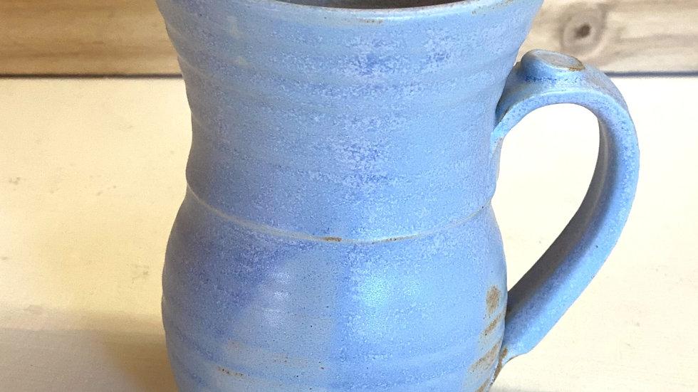 Pale blue mug, ceramic.