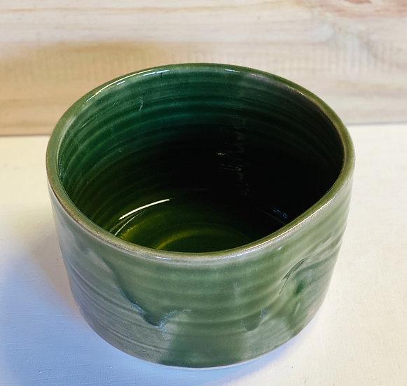 Dark green small serving bowl