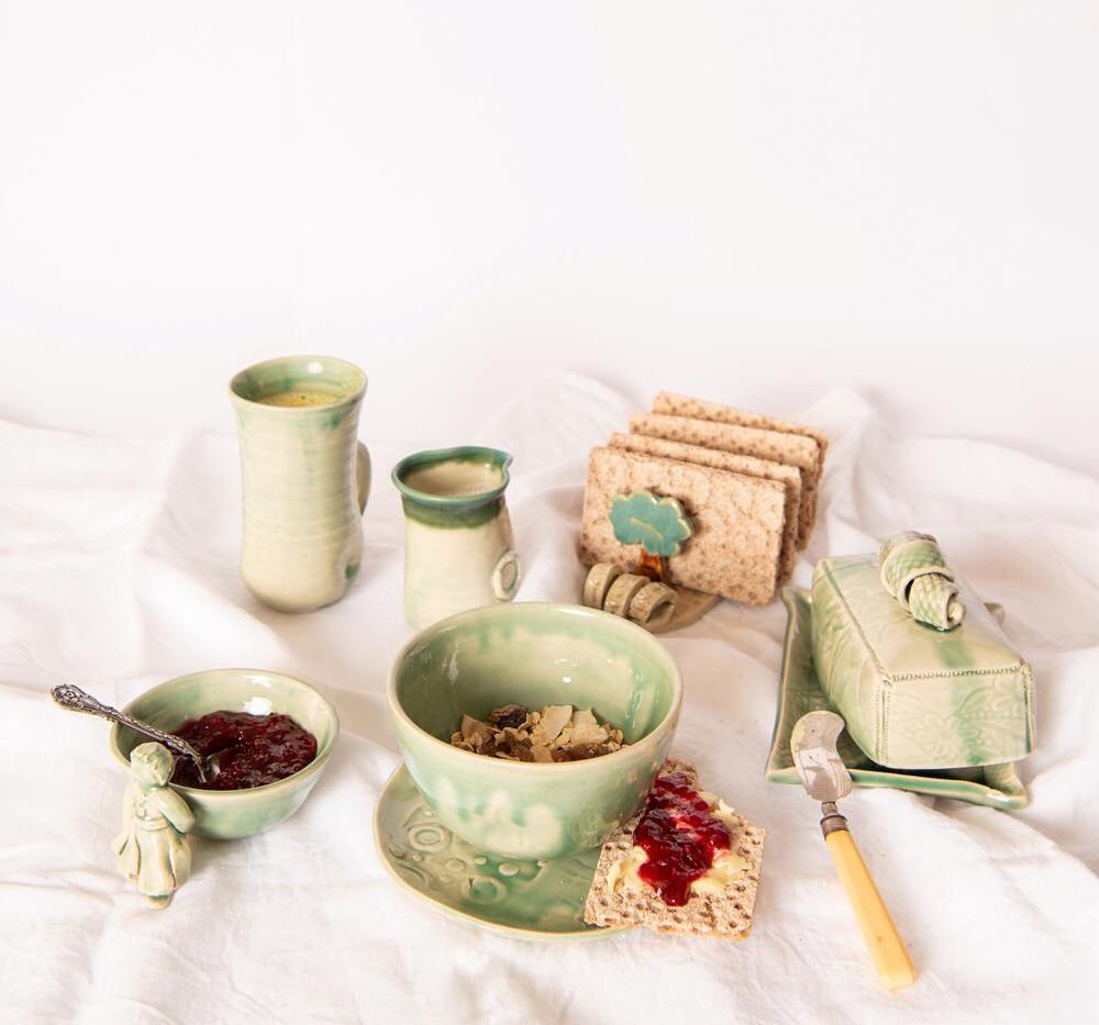 Green breakfast set