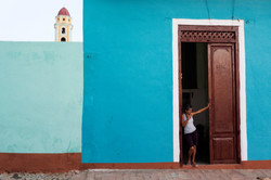 Three People, Trinidad, Cuba_