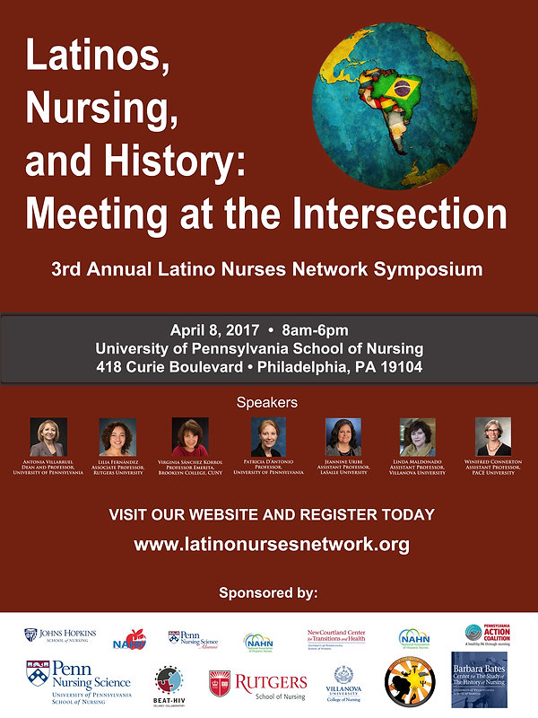 Image of the flyer for the 2017 Latino Nurses Network Symposium
