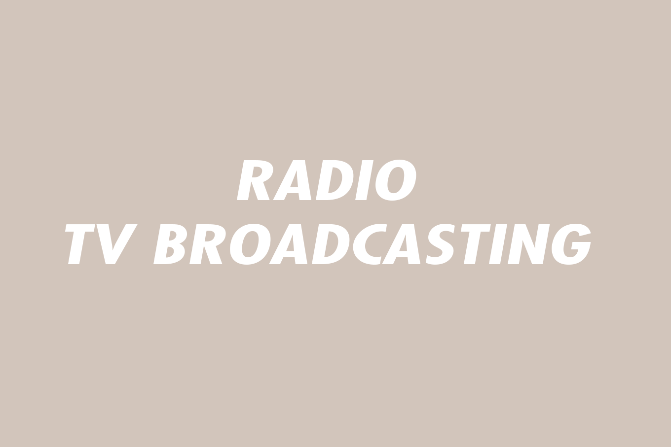 00 Radio - Tv Broadcasting