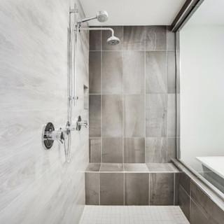 large custom shower