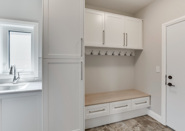 mudroom with lockers