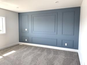 Master bedroom wall detail