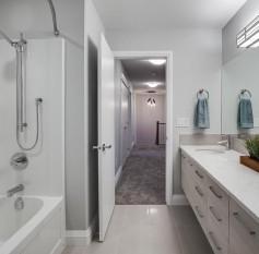 Main bathroom with double sinks