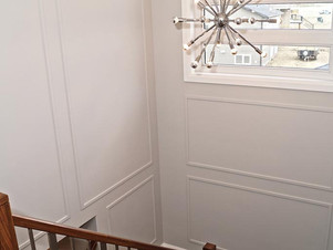 stairs with wall detail