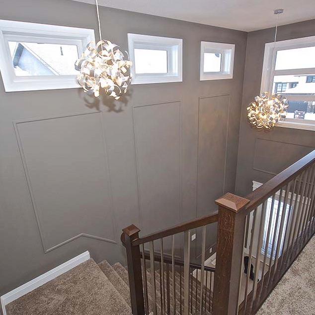 open stairs with railing