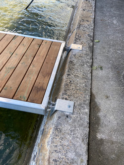Custom breakwall brackets to allow the perfect transition
