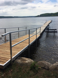 Custom ramp and railing for safe access to the water
