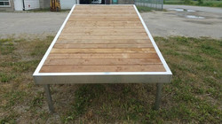 Display frame with Sienna decking