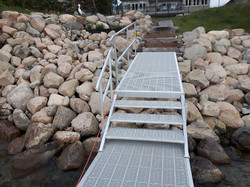 Custom ramp and stairs for dock access