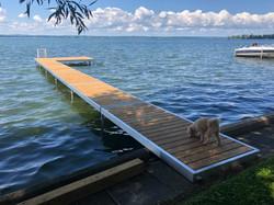 Happy pup enjoying the new dock!