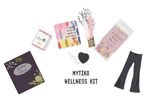 Wellness Kit & Black Yoga Cotton Lycra V-front Flares