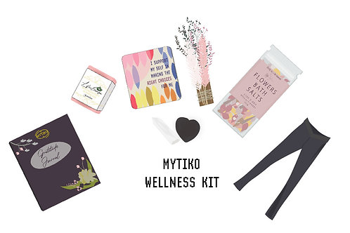 Black Wellness Kit & Yoga Cotton Lycra  V-front Skinnies