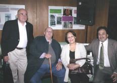 Junto a los poetas Leonardo Martínez, Rodolfo Godino y Graciela Zanini.